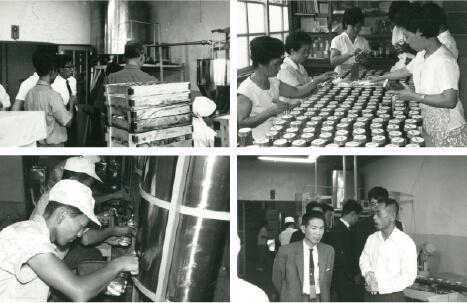 1961年:創業当時の工場内